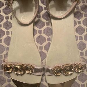 Aldo Bronze Stone Sandals